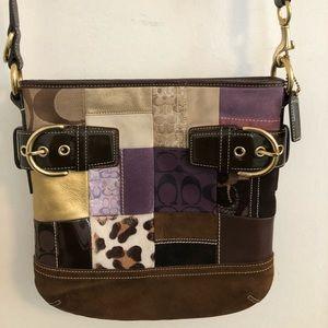 Coach vintage holiday patch shoulder bag